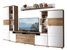 wohn concept terra plus 4 teilige wohnkombination 40 40 rw 80 für ihr wohnzimmer mit zwei aufsatz vitrinen einem tv unterteil und einem wandboard