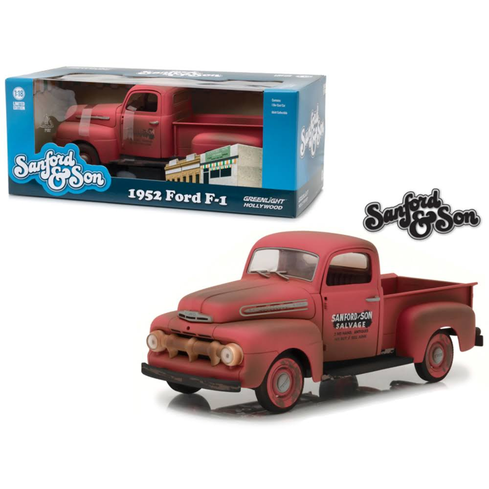 1952 Ford F-1 Pickup Truck 'Sanford & Son' TV Series 1/18 Diecast Model Car by Greenlight