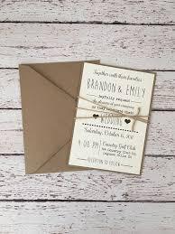 Simple Rustic Wedding Invitation Modern Twine Country Barn
