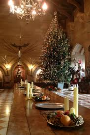Our 20ft Floor To Ceiling Christmas Tree In Great Hall Who Needs Table Decorations With This The Room