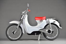 Futuristic Scooter Based On Classic Honda Super Cub Electric Concepts Battery Can Be Detached From
