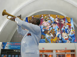 Denver Colorado Airport Murals by Louis Armstrong New Orleans International Airport Parking Msy