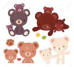 Collection Of Lovely Bear Family Doodle Icon Cute Papa Kawaii Mama
