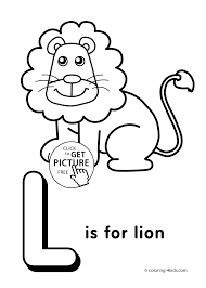 Letter L Coloring Pages Alphabet Words For Kids