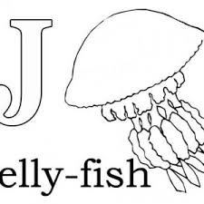 Letter J Is For Jellyfish Coloring Page