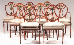 Fine Set Of Eight George III, Satinwood And Painted Dining Chairs How To Transform A Vintage Ding Table With Paint Bluesky Pating My Antique Six Edwardian French Painted Chairs 364060 19th Century Country Set Of 6 Balloon Back Good 1940s Faux Bamboo Eight 1920s Pair Regency 2 Side White Chippy Chair Early 20th Louis Xvi Chairsset 8 Abc Carpet Home Style Fniture And European Buy Cheap Punched Wood Handpainted