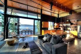 Modern Cabin Design Log Decor Interior Contemporary