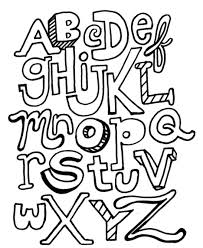 Alphabet Coloring Pages Printable Letters Halloween Scary For Adults Animals Disney Baby Large Size