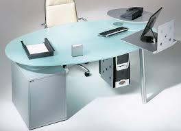 bureau transparent verre isotta bureau ovale verre transparent monbureaudesign fr