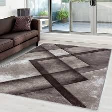 moderner designer konturenschnitt 3d wohnzimmer teppich hawaii 1390 braun größe 80x150 cm
