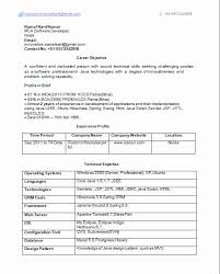Java Sample Resume 4 Years Experience Typical Sample Resume For