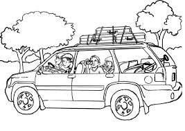 Coloring Page Car Travel