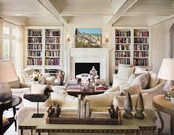 Living Room With Fireplace And Bookshelves by A Guide To Using Neutral Colors In The Home