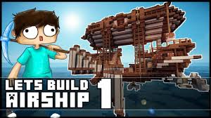 Minecraft Kitchen Ideas Keralis by Minecraft Lets Build Small Steampunk Airship Part 1 Youtube