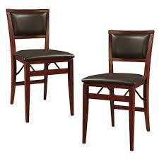 Set of 2 Keira Padded Back Folding Chair Linon Tar