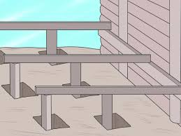 Distance Between Floor Joists On A Deck by How To Install Deck Piers With Pictures Wikihow