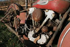 Motor Shot Of A '40 H-D Knucklehead