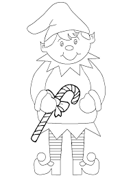 Print Coloring Page And Book Christmas Elf Pages For Kids Of All Ages