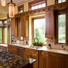 Kitchen Curtain Ideas For Bay Window by Cool Window Treatment Ideas For Kitchen With Gas Stove And Hanging