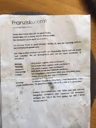 franziskusbrot kettenbrief wolkenstube