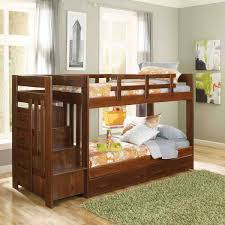 Colorado Stairway Bunk Bed by Woodcrest Heartland Twin Over Full Reversible Stair Bunk Bed Image