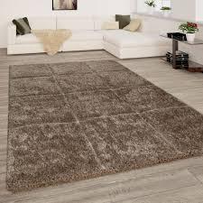 wohnzimmer teppich hochflor shaggy 3 d karo muster