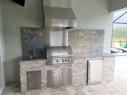 Custom Outdoor Kitchens Naples Fl by Outdoor Barbecue Island Designs By Elegant Outdoor Kitchens