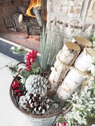 Outdoor Fireplace Ideas Christmas Farmhouse Decoration For An Patio