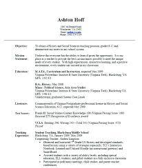 Format Of Resume For Teacher Free Sample Teachers Examples
