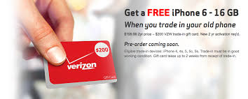 Upgrade your iPhone 4 or newer to a Verizon iPhone 6 for free w