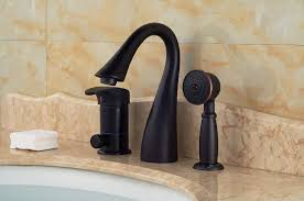Brushed Bronze Bathtub Faucets buy now franklin luxury 3 hole deck mount oil rubbed bronze