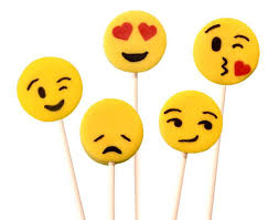 Emoji Lollipops via Marzipops