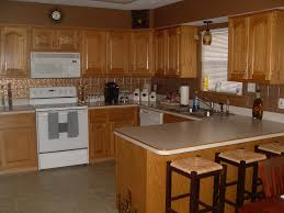 Kitchen Backsplash Pictures With Oak Cabinets by Kitchen Fancy Kitchen Decoration Using White Wood Kitchen Cabinet