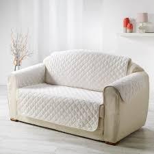 jeté de canapé gifi protège canapé matelassé blanc naturel dessus de chaise jeté