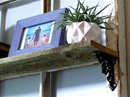 5 easy steps to make your own reclaimed wood shelf youtube