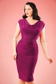 50s billie pencil dress in raspberry pink