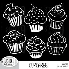 Chalkboard cupcake clipart