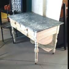 Vintage Baking Table With Zinc Top And Drawers For Flour Beneath LOVE