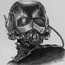 Ant Man Graphite On Bristol Art Portrait Antman Marvel