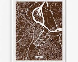 Gdansk Print Poland Poster Map