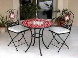 table ronde mosaique fer forge awesome table de jardin mosaique contemporary seiunkel us