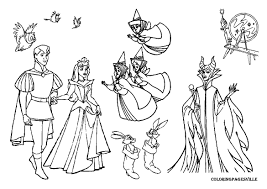 Sleeping Beauty Printable Coloring Pages Panda