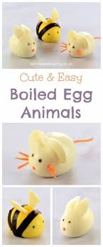 How To Make Cute Boiled Egg Animals