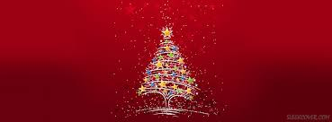 Colorful Christmas Tree Facebook Cover