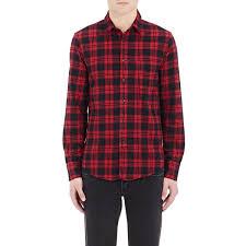 rag u0026 bone men u0027s plaid flannel shirt in red for men lyst