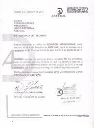 ALMA MATER JUSTICIA Y DERECHO RENUNCIA AL CARGO DE TESORERO