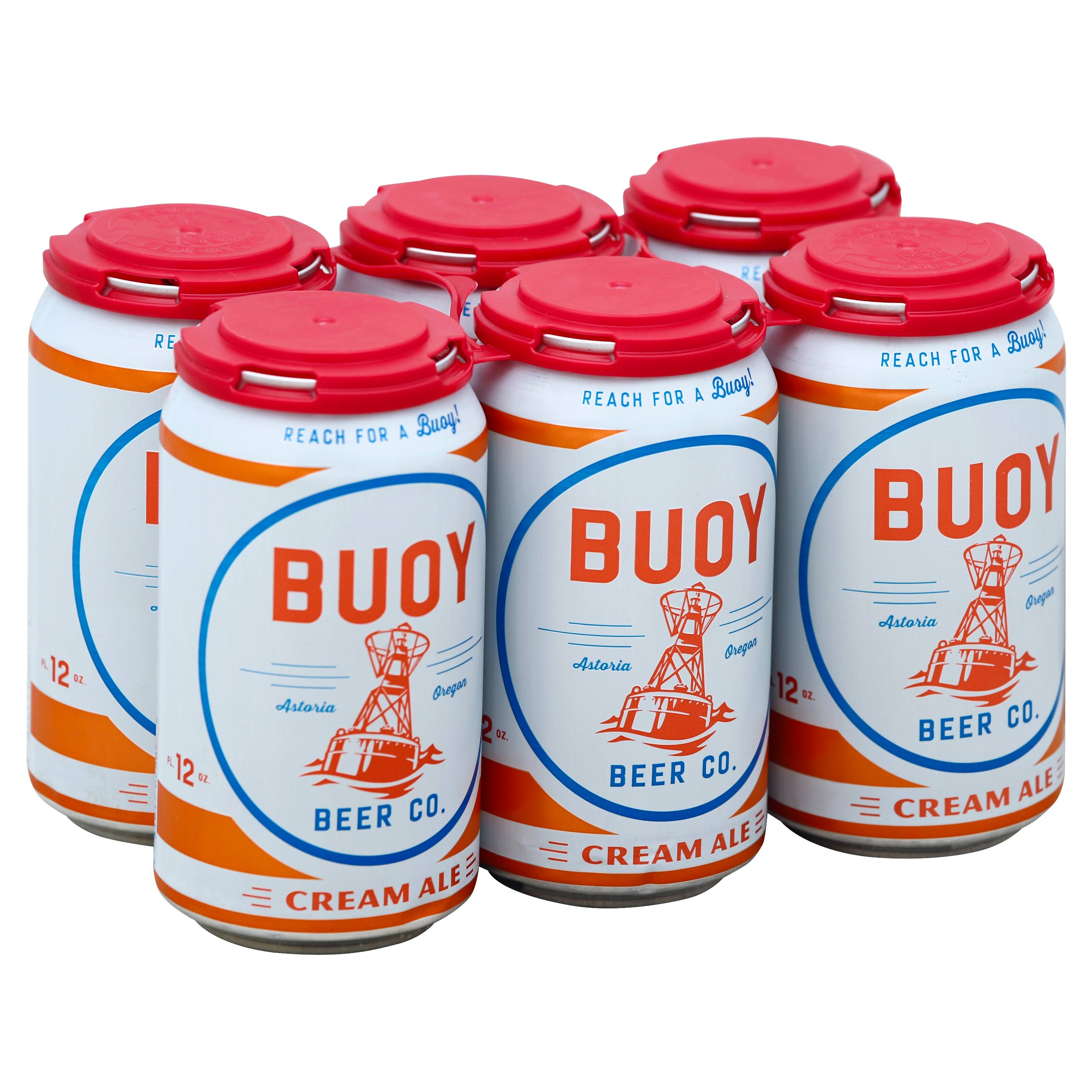 Buoy Beer, Cream Ale - 6 pack, 12 fl oz cans