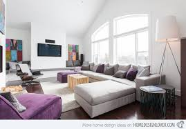 Simple Decoration Purple And Gray Living Room Luxurious Splendid 15 Catchy Designs With Accent