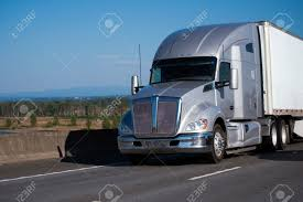 An Amazing Powerful Professional Silver Big Rig Semi Truck With ...