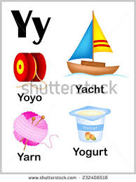 Cute And Colorful Alphabet Letter Y With Set Of Illustrations Words Printable Sheet